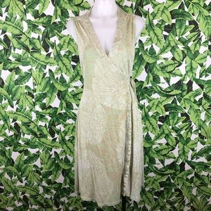 5 for $25 Elie Tahari Green Floral Wrap Dress